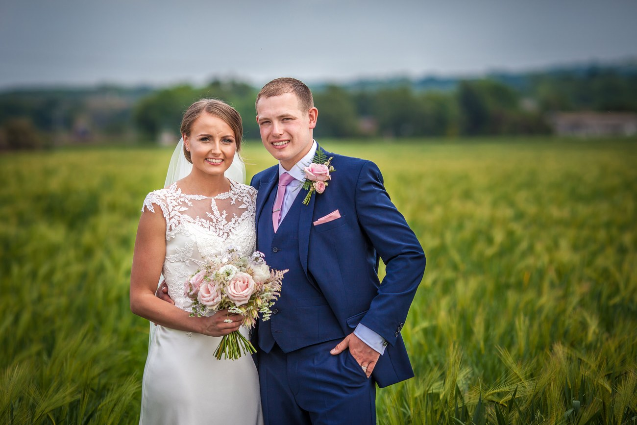 wedding portrait in farm