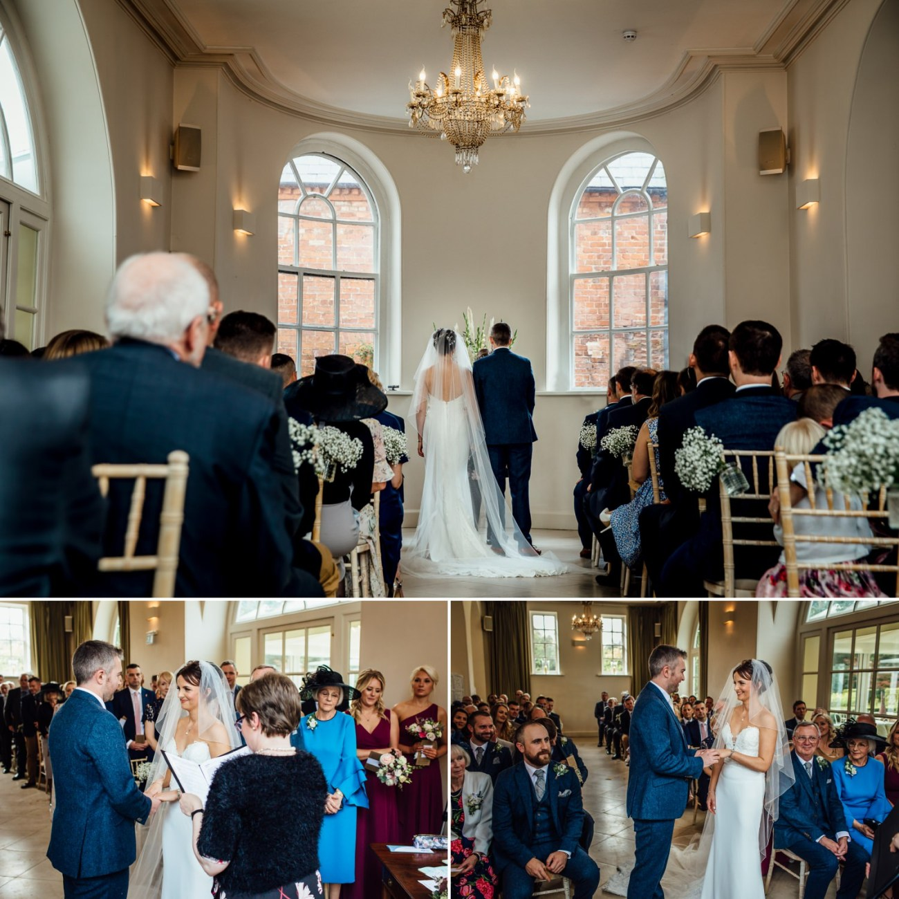 Iscoyd Park wedding photography of wedding ceremony