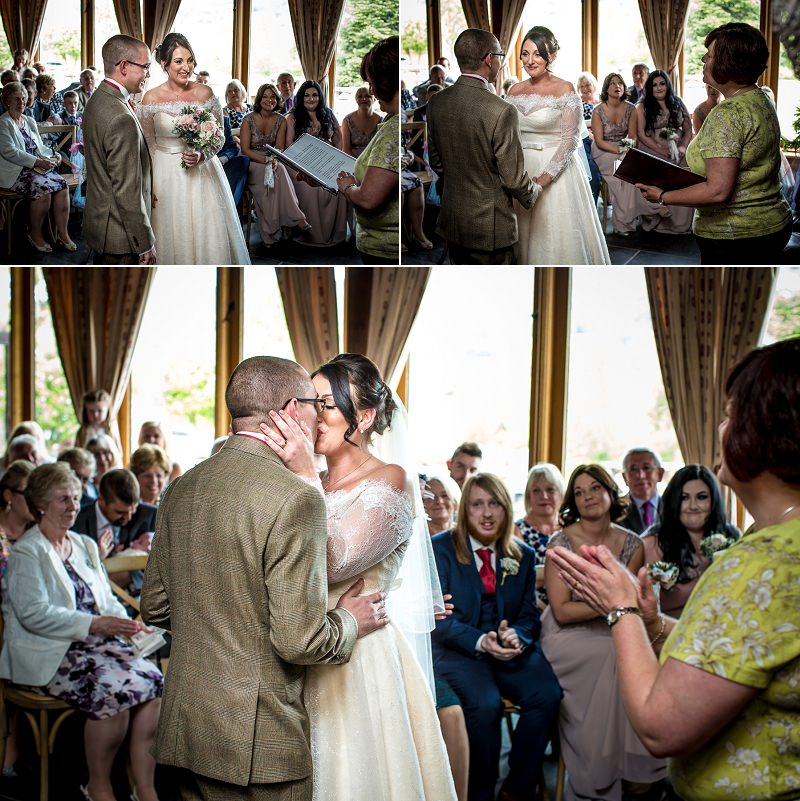 wedding ceremony, wedding photography at Vale Country club, Ruthin, North Wales