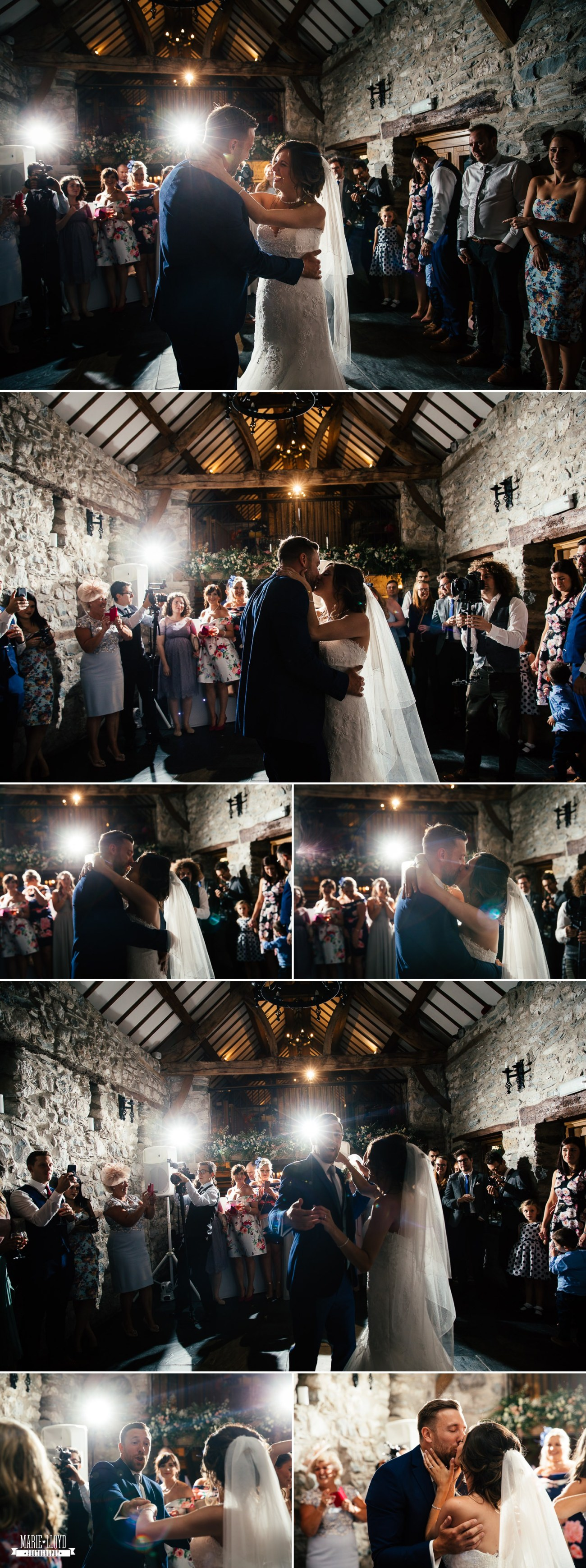 Wedding Photography of guests and people dancing at Plas Isaf, North Wales