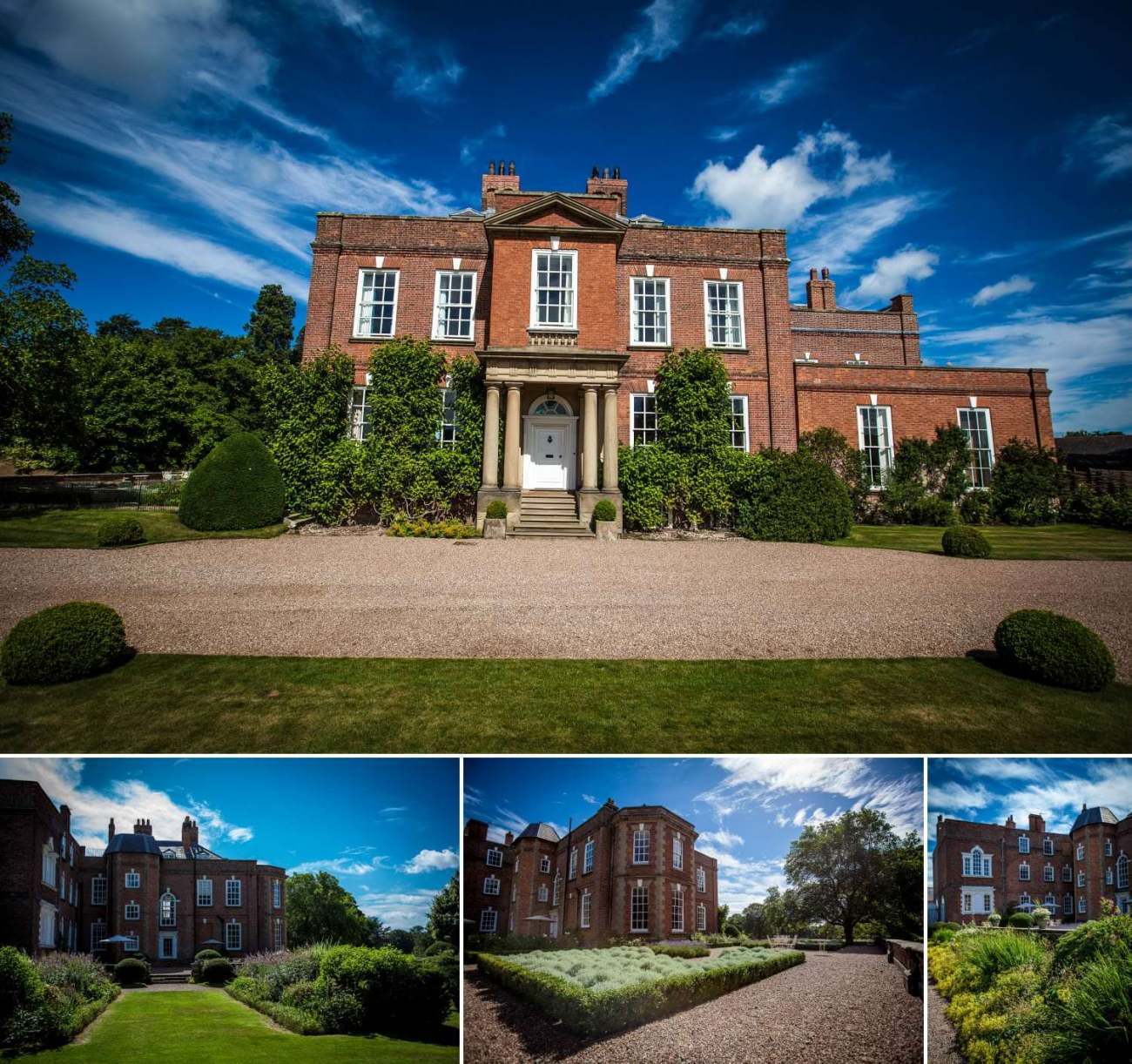 Wedding Photography of the building at Iscoyd Park, Whitchurch