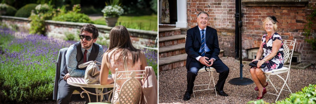 Wedding Photography of guests at Iscoyd Park