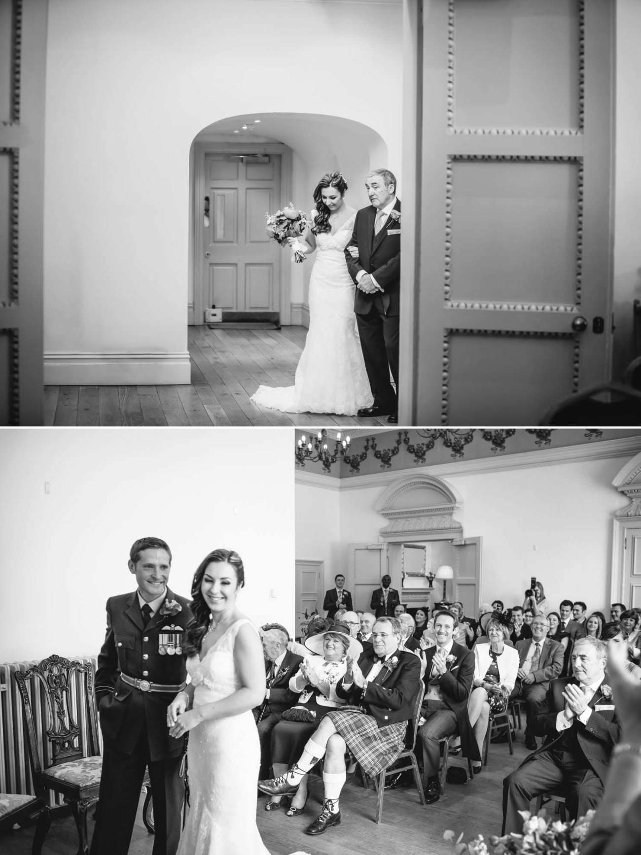 Weding Photography Shropshire of wedding ceremony in Ludlow Castle