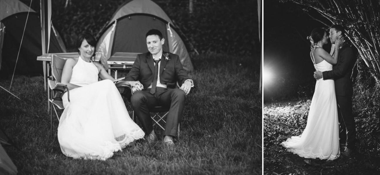 wedding photography natural black and white of couple north wales
