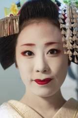 Portret; Geisha