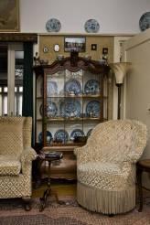 Historisch interieur; blauwkast