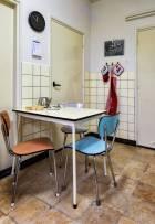 Historisch interieur; keuken uit de sixties