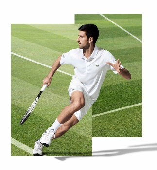 Novak Djokovic wearing Lacoste at Wimbledon 2017
