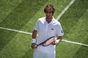 Pablo Cuevas wearing Lacoste at Wimbledon 2017