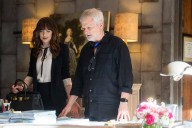 """DAKOTA JOHNSON as Anastasia Steele and director JAMES FOLEY on the set of """"Fifty Shades Freed,"""" the climactic chapter based on the worldwide bestselling """"Fifty Shades"""" phenomenon. Bringing to a shocking conclusion events set in motion in 2015 and 2017's blockbuster films that grossed almost $950 million globally, the film arrives for Valentine's Day 2018."""