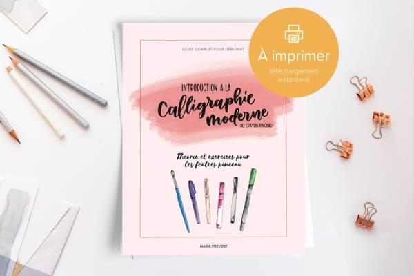 Guide d'introduction à la calligraphie moderne 01