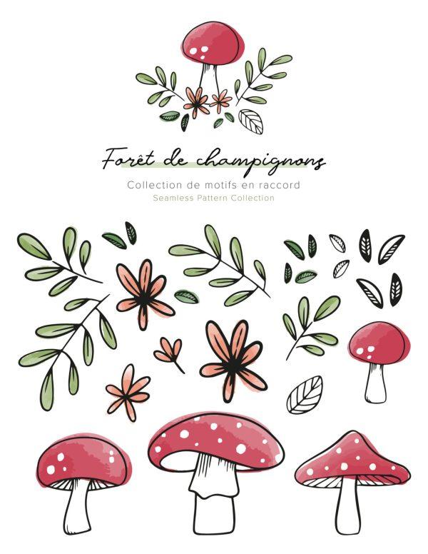 Forêt de champignons - Éléments