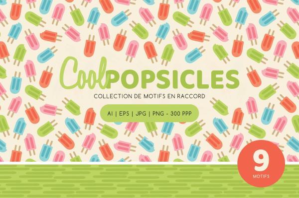 Cool Popsicles - Collection de motifs en raccord