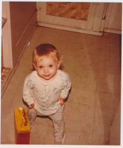 Melissa as a little girl.