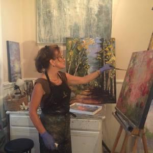 Mary Jane Huegel at work