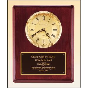 Rosewood Wall Clock Marietta Trophy