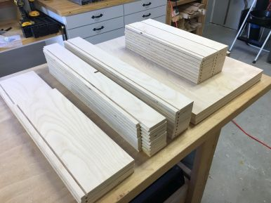 Drawer Components Ready For Assembly