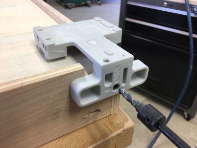 Boring Jig for Blum Drawer Slide Rear Attachment