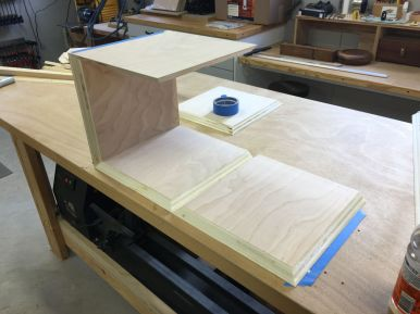 With the painters tape hinges in place, glue up and folding together is quick and easy.