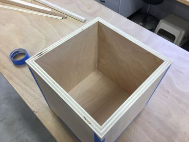 With careful alignment and placement of the painters tape, tight joints are achievable.