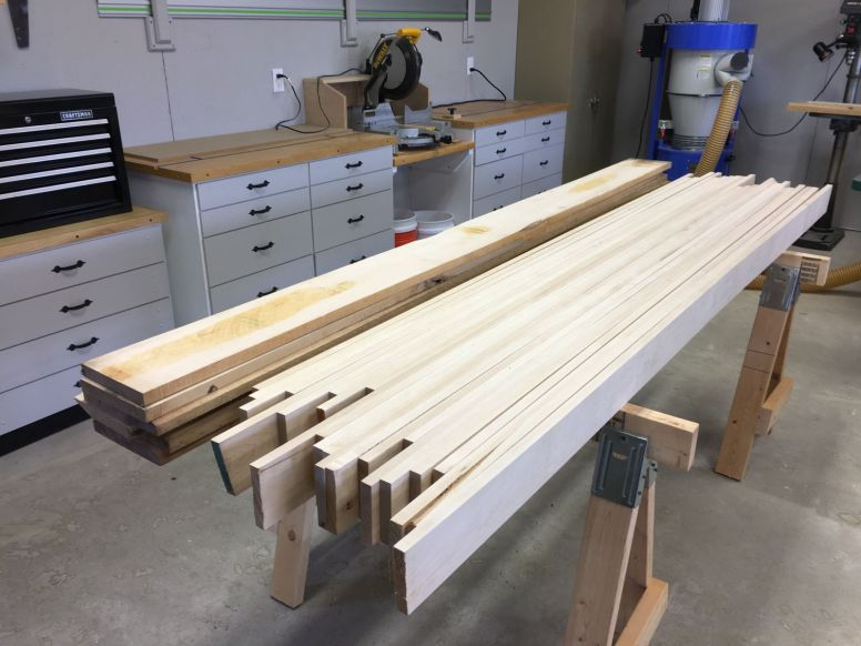 Northern hard maple boards for the top.