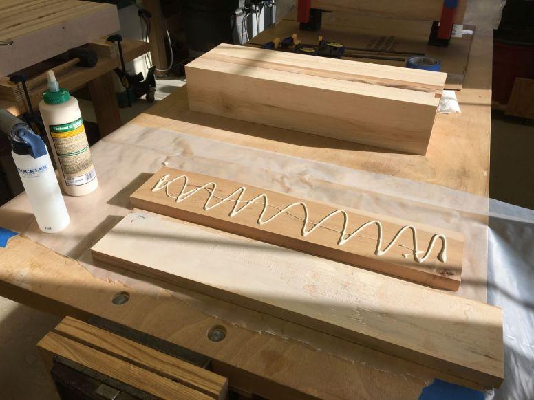 Short stretcher glue ups