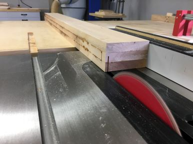 Ripping glue ups to final size