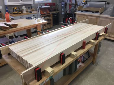 The finished slab with flat and parallel surfaces