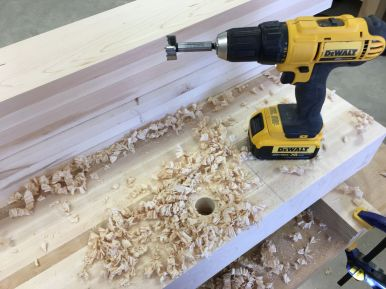 Drilling that first hole was a bit nerve racking
