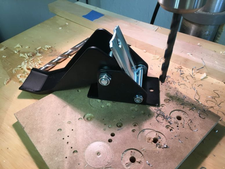 Modifying retractable caster bracket for 3/8 mounting bolt