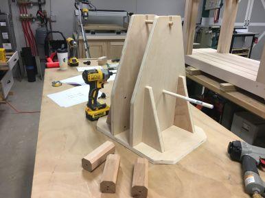 Plywood base assembled