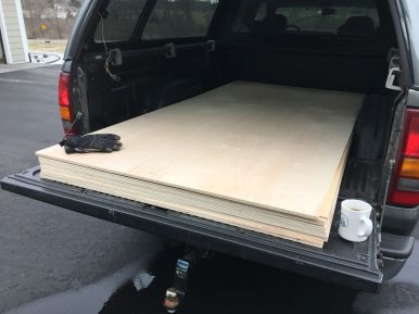 Birch plywood from Chelsea Lumber