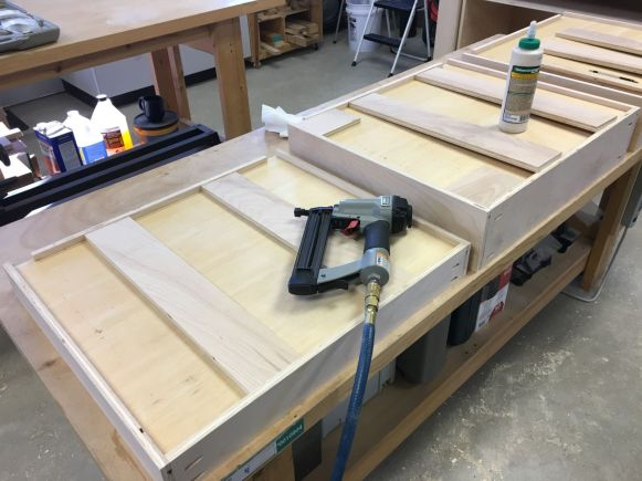 """Adding 1/2"""" plywood strips to reinforce 1/4"""" plywood drawer bottoms"""