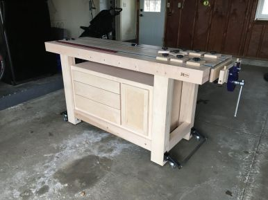 Workbench with cabinet