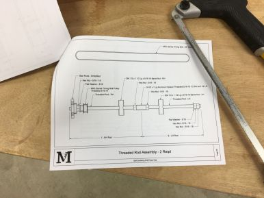 Threaded Rod Assembly details.