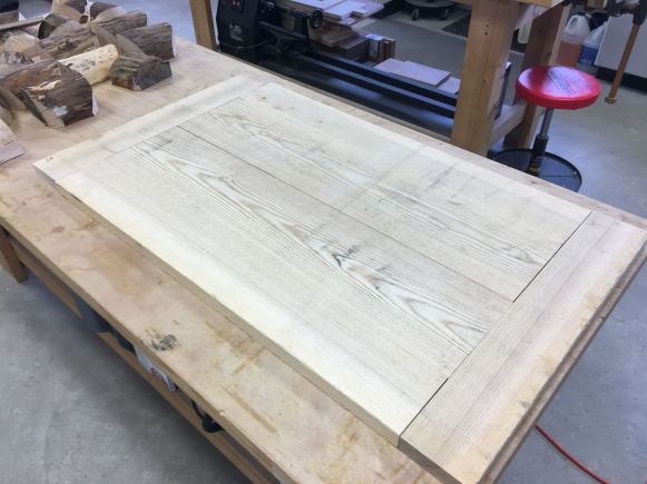 Approximate layout of boards to form the coffee table top.