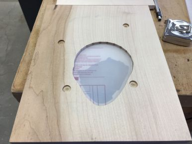 Polycarbonate window with protective film still in place, fit to pocket