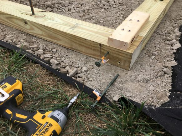 Securing Sleeper Corners with Timber Screws