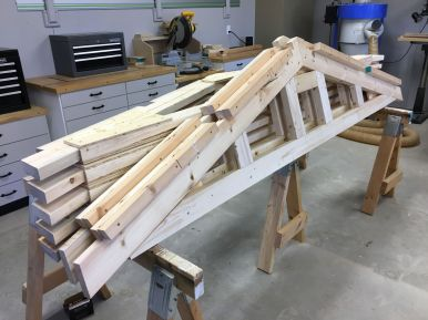 Five Common and Two Gable Trusses Completed