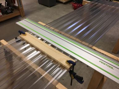 Cutting the Roofing Material to Length