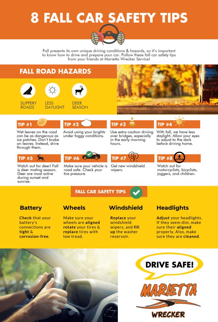 10 Fall Car Safety Tips to Follow | Marietta Wrecker Service
