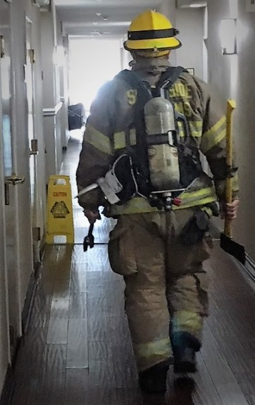 fireman responds to alarm