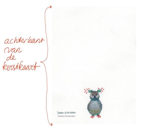 illustratie op de kerstkaart