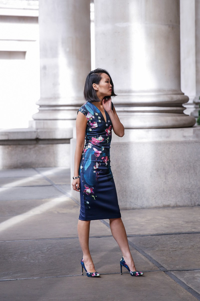 mariko kuo in ted baker floral print dress