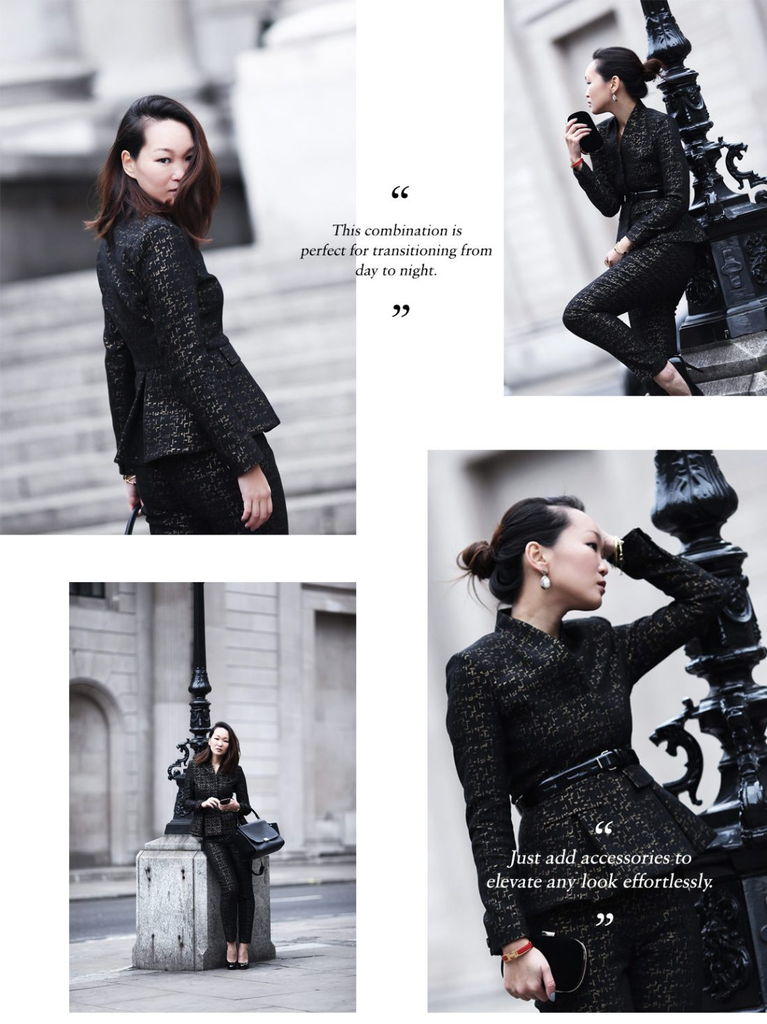 Mariko Kuo in the Wren Suit by The Fold London