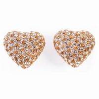 Gold, Rhinestone Earrings