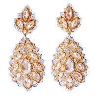 Gold, CZ (Cubic Zirconia) Earrings