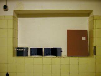 """mutus liber"" series and a case of ""mutelibertine"", in the 3rd room; ""第3展示室の""mutus liber"" シリーズと ""mute libertine""の函"