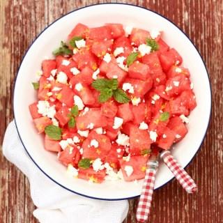 watermelon salad - sq.