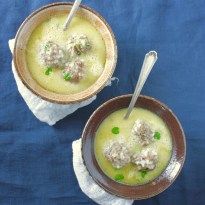 Greek Meatball Soup | Youvarlakia Avgolemono_image